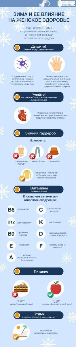 Зима и ее влияние на женское здоровье фото 2